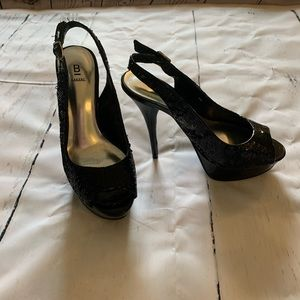 Bakers black high heels 7.5 M  sequins